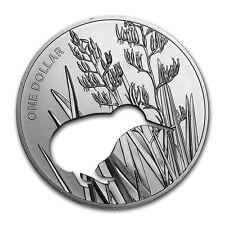 1 oz Silber Dollar Kiwi Silhouette Neuseeland 2015 PP Polierte Platte im Etui