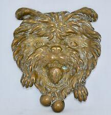 Antique Cast Brass Dog Ashtray (or Vide Poche) - Decoration