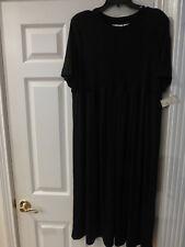 NWT KATHIE LEE WOMAN BLACK  DRESS SIZE 20W SHORT SLEEVE STRETCHY