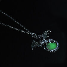 Women Vintage Punk Glow In The Dark Dragon Pendant Necklace Fashion Jewelry