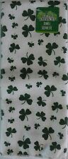 New St Patrick's Shamrock Terry Cotton Kitchen Towel ~Small Clover White (Qty 1)