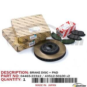 LEXUS IS300 GS300/400 FACTORY OEM FRONT (LH+RH) BRAKE DISC ROTOR & BRAKE PAD SET