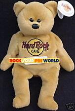 "Hard Rock Cafe USA City ""ISAAC"" Teddy BEAR #1 of 5 BROWN Bean Bag BEARA MWMT"