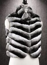 Women's Sz 6/8 Brand New Genuine Chinchilla Fur Vest CLEARANCE SALE