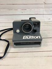 "**EXCELLENT** Polaroid ""The Button"" Land Camera SX-70 Instant Camera (Gray)"