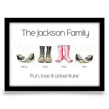 Fathers day gift for Dad personalised Birthday present Family Keepsake A4 print