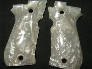 Beretta 81/84 F/FS & 84 Cheetah-Beautiful White Pearl Smooth Pistol Grips NEW!