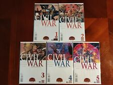Marvel Comics Civil War #1-5 Full Series Comic Book Lot