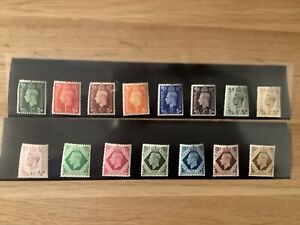 1937 GB King George V1 Definitive Set of 15 SG 462-475 Mint never hinged
