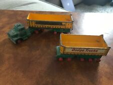 Matchbox Lesney King Size K-16 Dodge Trucks Tractor And Fruehauf Tipper Trailers