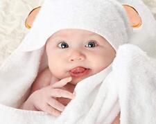Super Soft Organic Bamboo Hooded Baby Towel; Teddy Bear Ears + 2 Washcloths