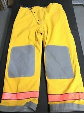 Used Globe Firefighters Suits Fire Turnout Pants Size 42x30 Breathe Tex Yellow