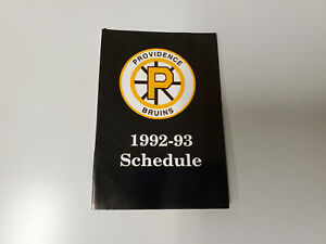 RS20 Providence Bruins 1992/93 Minor Hockey Pocket Schedule - Bob's Stores