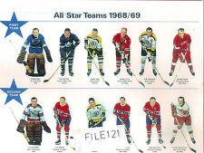 1968-69 BOBBY ORR  1st team all star  BOSTON BRUINS BOBBY HULL  PHIL ESPOSITO PR