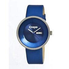 NEW WOMENS CRAYO CR0202 WATCH BUTTON BLUE
