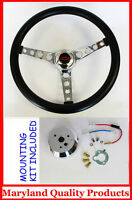 1967 Camaro GT Retro Black Steering Wheel Red/Black Center 14 1/2""""