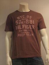 TOMMY HILFIGER 681 Tee [ Gr. M ] hombre camiseta camiseta estampada marrón