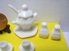 Miniature Dollhouse 14 Pc Bone China Soup Tureen Set