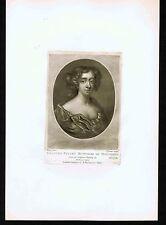 Frances Teresa Stewart, Duchess of Richmond and Lennox- 1810 Mezzotint Engraving