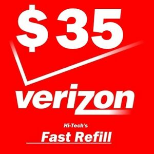 $35 VERIZON PREPAID FASTEST ONLINE REFILL > 25yr USA TRUSTED DEALER <