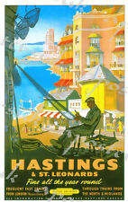 Vintage British Rail Hastings Railway Poster A4/A3/A2/A1 Print