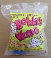 1993 McDonalds Happy Meal Bobby's World Wagon Race Car Blue Sealed NOS