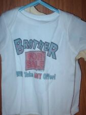 12 Month Infant T-shirt Brother For Sale Will Take any offer