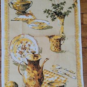 VINTAGE LEACOCK LINEN KITCHEN TEA TOWEL - BREAKFAST IS SERVED MWT