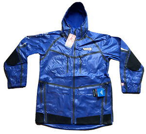 Men's COLUMBIA PFG Force XII OutDry Extreme Jacket Blue Medium Waterproof NEW