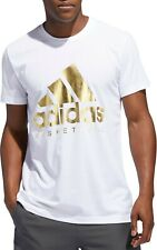 Adidas Basketball Badge of Sport Gold Foil Men's T-Shirt Size S 14011