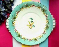 """Vintage 1950's Roslyn China Pink """" Highland Bell """" R697 Large Tea Set Cake Plate"""