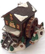 ROCK CREEK MILL HOUSE #58932 DEPT 56 RETIRED SNOW VILLAGE  moving water wheel