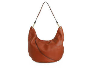 Vince Camuto Shae Leather Hobo Shoulder Bag   Cognac  New w/Tags  #PW450 REDUCED