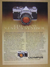 1977 Olympus OM-1 OM-2 35mm SLR Camera vintage print Ad