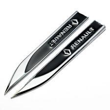 Pair 3D Zinc Alloy Black Logo Knife Side Fender Emblem Badge Sticker Fit Renault