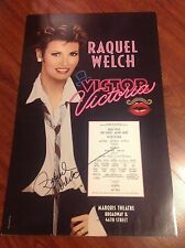 RAQUEL WELCH SIGNED VICTOR VICTORIA THEATER BROADWAY POSTER SEX SYMBOL RARE