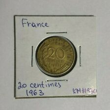 France 20 centimes, 1963