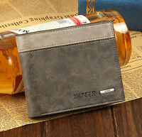 Bifold Leather Wallet ID Business Credit Card Holder Purse Clutch Pockets MEN HS