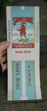 Vintage Snow Shoe Smoking Chewing Tobacco Packaging Wrapper