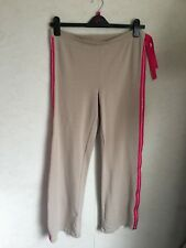 Ladies Light Brown/Pink Stripe Trousers/Joggers Size 12/14