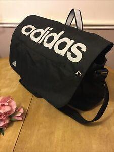 ADIDAS 💖 Adidas Black Messenger Shoulder Bag Sports Bag