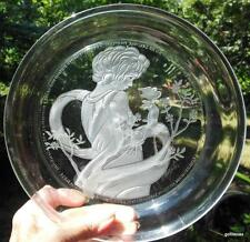 """Crystal Plate """"Violet"""" Michael Yates Limited Edition Bradex 1982 Country Ladies"""