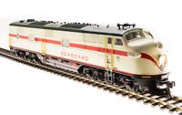 Broadway Limited 5418 HO EMD E7 A-unit SAL #3021 Mint Green Red Stripe DCC Sound