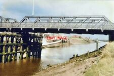 PHOTO  LINCOLNSHIRE FOSDYKE BRIDGE IN 1986 AS SEEN FROM THE BANK OF THE RIVER WE