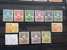 BASUTOLAND-GEORGE 6th-1938 SET OF 11-SG 18/28-SCARCE UNMOUNTED MINT-MNH-CAT £110