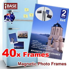 40x Frames 6x4 Magnetic Photo Picture Notes Fridge Clear Pocket Idea Gift Decor