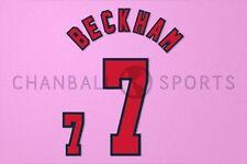 Beckham #7 1998 World Cup England HomeKit Nameset Printing