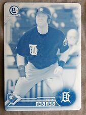 Detroit Tigers Mike Gerber 2016 Bowman Draft Chrome Cyan Printing Plate #1/1