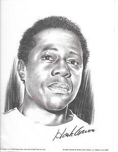 "Charles Linnett 8 1/2"" x 11"" print, HOF Hank Aaron, Atlanta Braves, MINT cond.!"