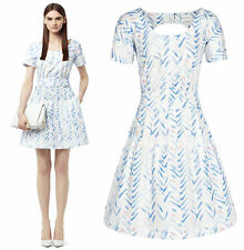 BNWT Reiss Marilyn Chevron Fit & Flare 1950s Summer Cocktail Dress Size 14 £159